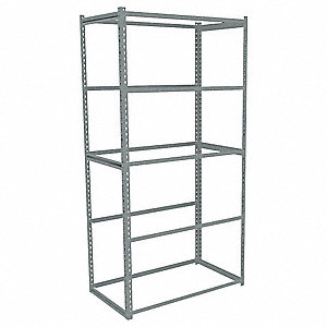 "48"" x 30"" x 84"" Steel Boltless Shelving Starter Unit, Gray&#x3b; Number of Shelves: 0"