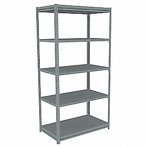 Boltless Shelving,Starter,48x24,Steel