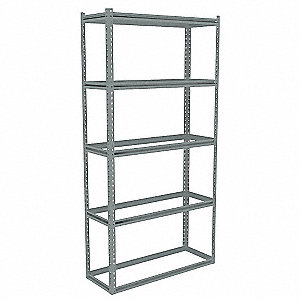 "Boltless Shelving,Starter,84"" H,Gray"