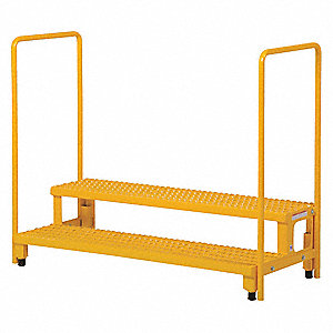 ADJ STEP STAND WITH HANDRAIL 48X23