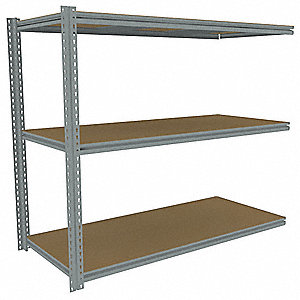 "Add-On Boltless Shelving with Particle Board Decking, 3 Shelves, 69""W x 30""D x 60""H"