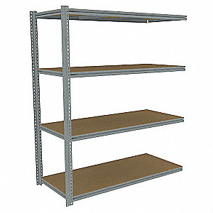 "Add-On Boltless Shelving with Particle Board Decking, 3 Shelves, 69""W x 30""D x 84""H"