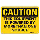 Caution: This Equipment Is Powered By More Than One Source Signs