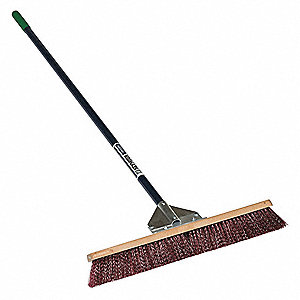 "Push Broom,Head and Handle,24"",Brown"