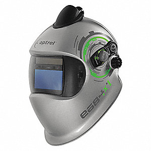 "e684 Series, Auto-Darkening Welding Helmet, 5 to 13 Lens Shade, 3.94"" x 1.97"" Viewing AreaSilver"
