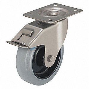 "5"" Light-Medium Duty Swivel Plate Caster, 330 lb. Load Rating"