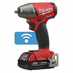 Milwaukee 3 8 Cordless Impact Wrench Kit 18 0 Voltage 210 Ft Lb Max Torque Battery Included 44yy78 2758 22ct Grainger