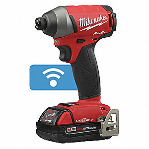 IMPACT DRIVER KIT,1/4IN SZE,WITH BATTERY