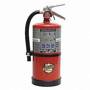 Dry Chemical Fire Extinguisher with 10 lb. Capacity and 10 sec. Discharge Time