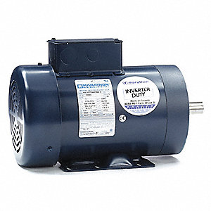 1 HP General Purpose Motor,3-Phase,1170 Nameplate RPM,Voltage 230/460,Frame 145TC