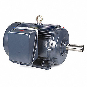 60 HP General Purpose Motor,3-Phase,1190 Nameplate RPM,Voltage 230/460,Frame 404T