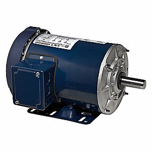 2 HP General Purpose Motor,3-Phase,1745 Nameplate RPM,Voltage 230/460,Frame 145T