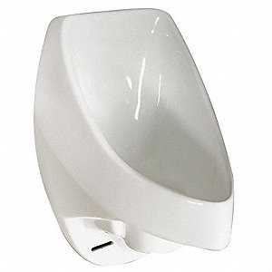 "Waterless Wall Urinal, 0 Gallons per Flush, 24""H x 14""W, White"