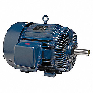250 HP General Purpose Motor,3-Phase,1190 Nameplate RPM,Voltage 460,Frame 447/9T