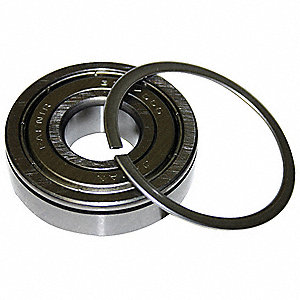 Radial Ball Bearing, Single Shielded, 40mm Bore Dia., 90mm Outside Dia.