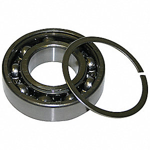 Radial Ball Bearing, Open, 40mm Bore Dia., 90mm Outside Dia.