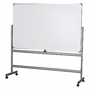grainger approved gloss finish steel dry erase board easel mounted