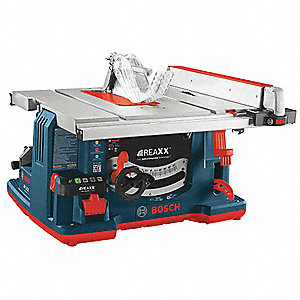 "10"" Table Saw, Blade Tilt: Left, 5/8"" Arbor Size, 3650 No Load RPM"