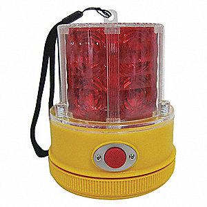 Portable LED Warning Light,Red,Flashing