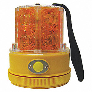 Portable LED WarningLight,Amber,Flashing