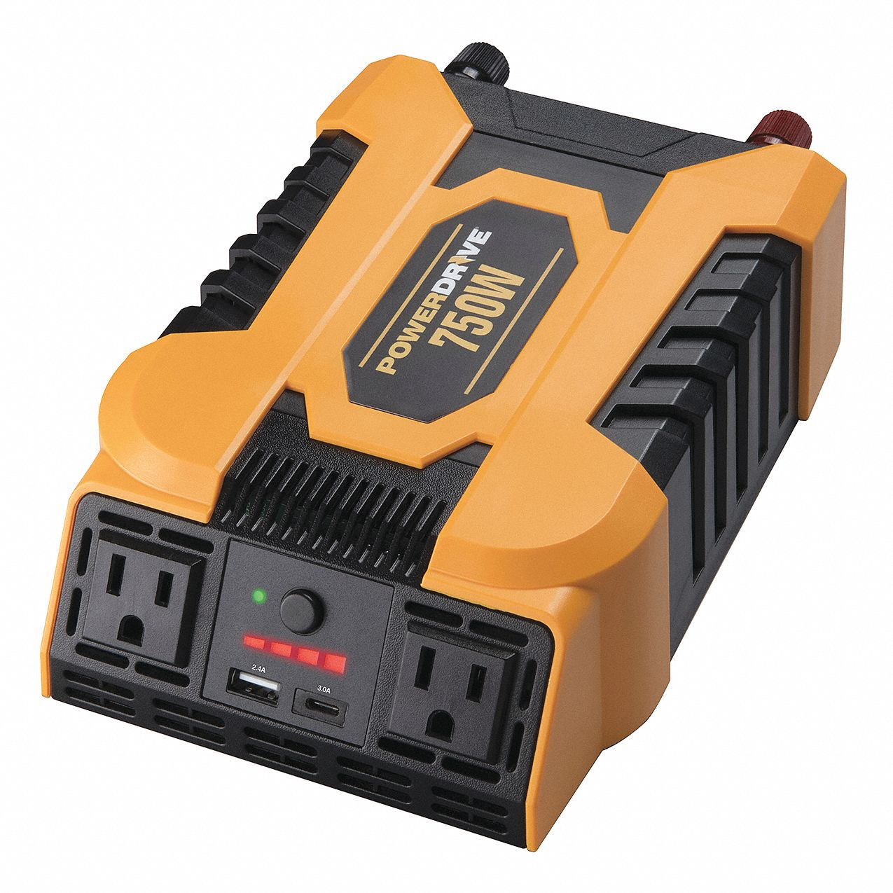 Inverter, 115VAC, 12VDC, 2-Outlet