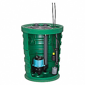 1/2 HP Simplex Sewage System, 115 Voltage, Basin Capacity: 41.0 gal.