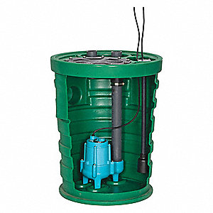 4/10 HP Simplex Sewage System, 115 Voltage, Basin Capacity: 41.0 gal.