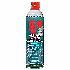Degreaser, 20 oz. Aerosol Can, Mild Liquid, Ready to Use, 1 EA