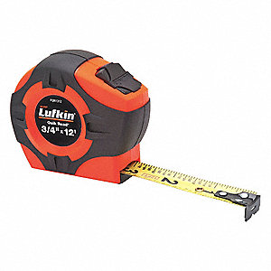 Tape Measure,12 ft.,3/4 in. Blade Width