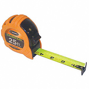25 ft. Steel SAE Tape Measure, Orange