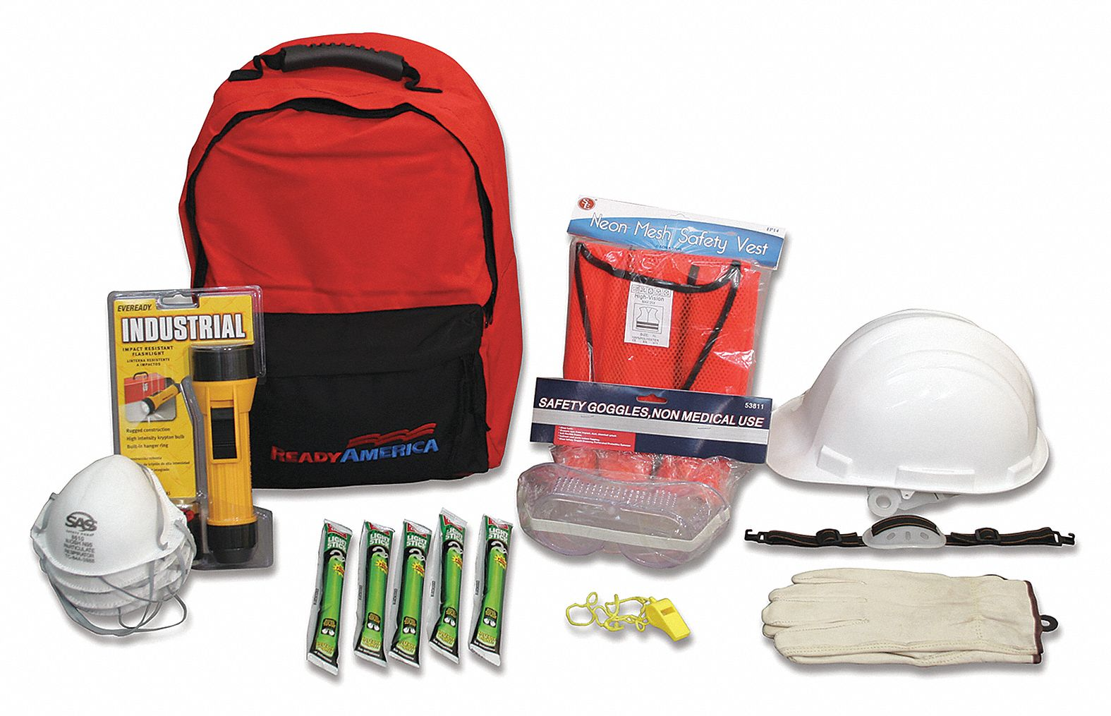 Manager Emergency  Kit,  Number of Components 19,  People Served 25,  Red/Black,  16 in Height