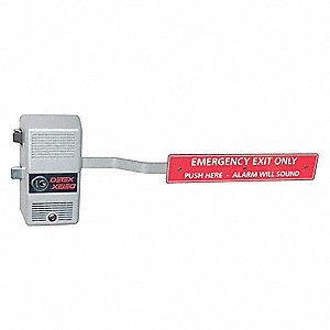 Exit Device, Series ECL-600, Anodized Aluminum, Rim Exit Device with Alarm