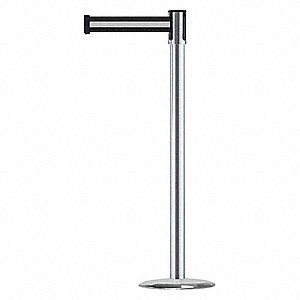 Slimline Post,Satin Chrome,Steel