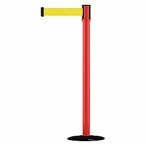 Slimline Post,Yellow,Red Post Finish