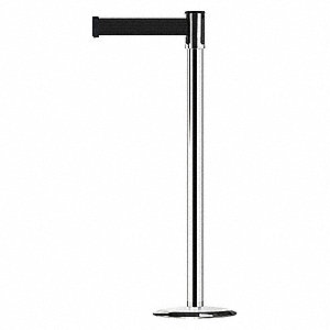 Slimline Post,Black,Polished Chrome
