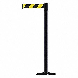 Slimline Post,Black,Basic,14in.Base Dia.