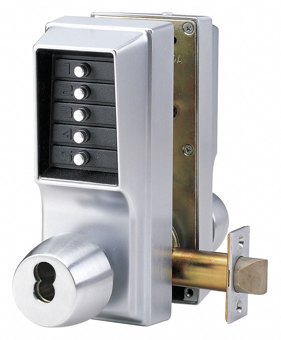 Mechanical Push Button Lockset,  Lever,  Lock Entry and Egress