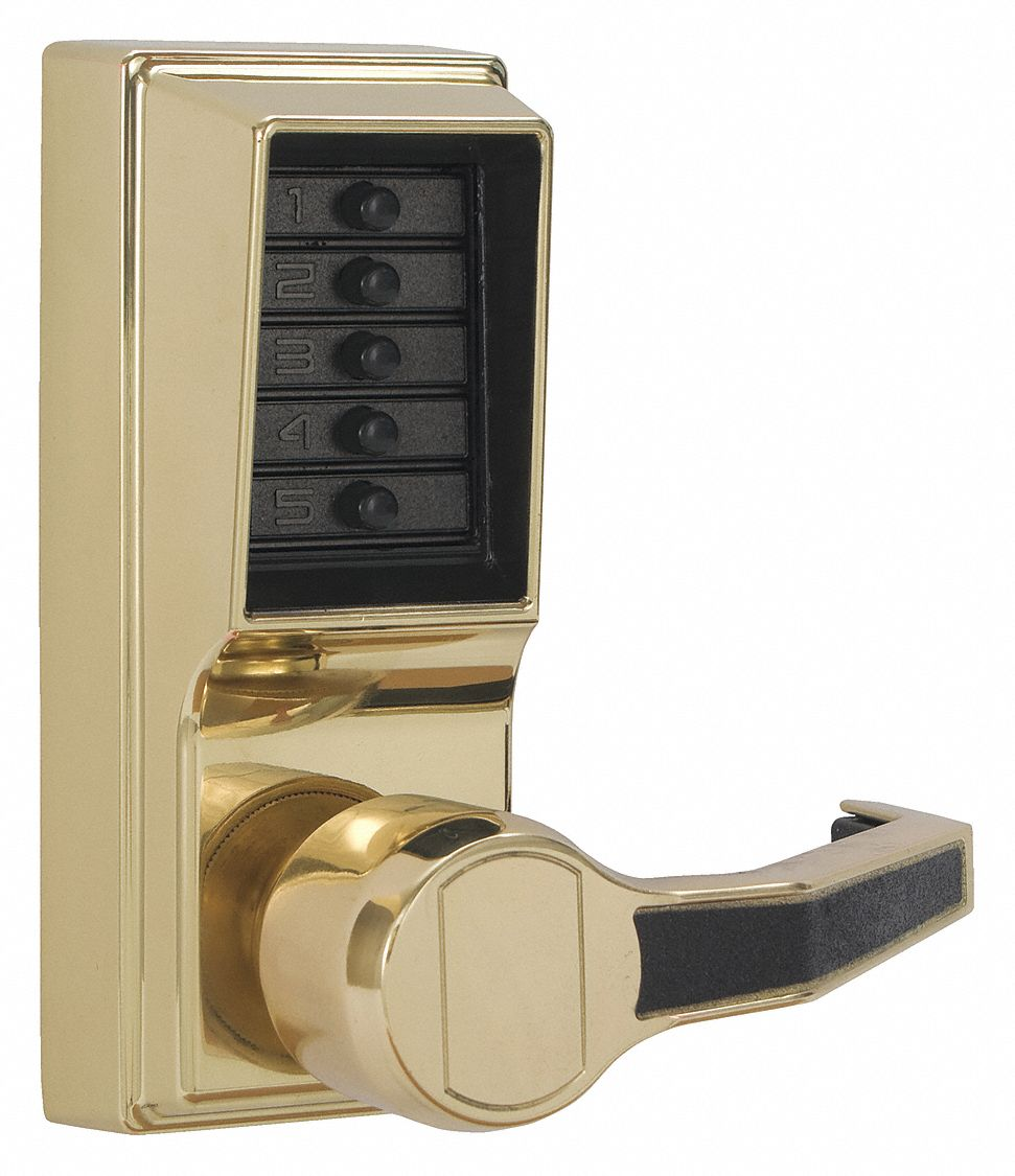 Mechanical Push Button Lockset,  Lever,  Entry,  None Key Override Options,  Right
