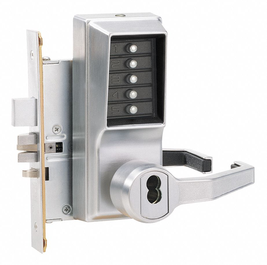 Mechanical Push Button Lockset,  Lever,  Entry