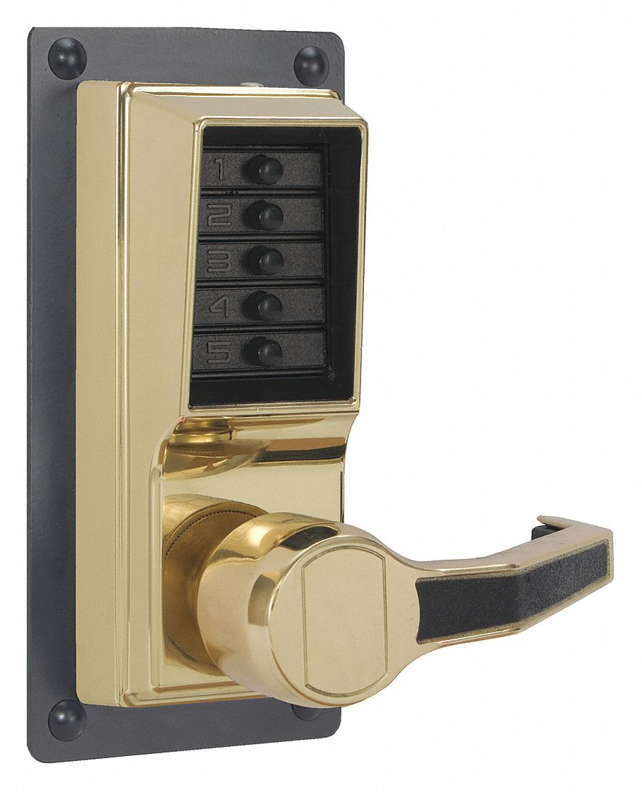 Mechanical Push Button Lockset,  Lever,  Entry,  None Key Override Options