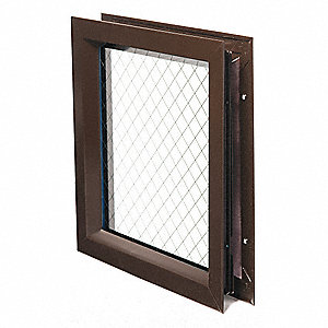 Lite Kit with Glass,24inx32in,Drk Bronze