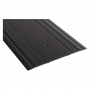 "4 ft. x 9"" x 1/4"" Fluted Top Saddle Threshold, Dark Bronze"