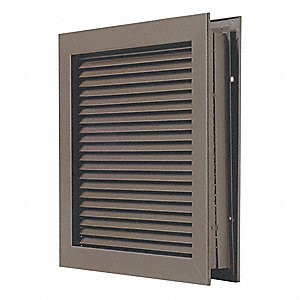 Self Attaching Louver,Steel,10 in.H
