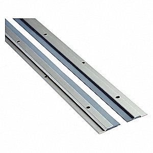 "Aluminum, Astragal, Clear, 8 ft. Overall Length, 1-1/4"" Overall Width, 96"" Overall Height"