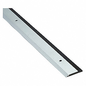 "Single Fin Door Sweep, Anodized Aluminum, 4 ft. Length, 1-1/4"" Flange Height, 7/16"" Insert Size"