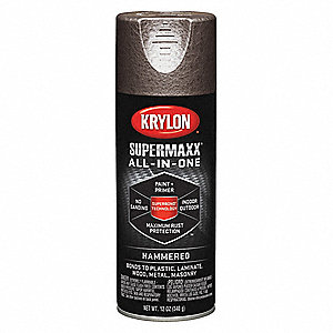 Super MAXX Hammered Spray Paint in Hammered Brown for Metal, Plastic, Wood, 12 oz.