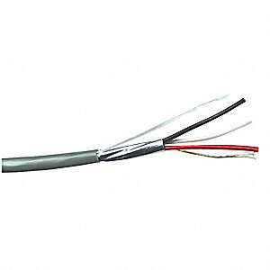 Shielded Power Limited and Communication Cable, 500 ft. Length, Gray Jacket Color