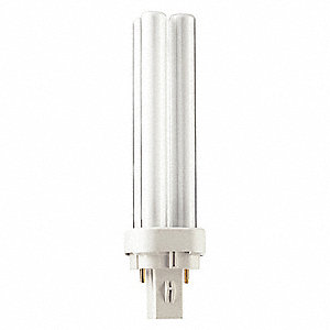 13.0 Watts  Plug-In CFL, GX23, 2-Pin (G23), 825 Lumens 4100K Bulb Color Temp.