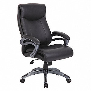 Awesome Black Leather Executive Chair 29 1 2 Back Height Arm Style Fixed Machost Co Dining Chair Design Ideas Machostcouk