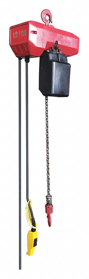 H4 Electric Chain Hoist, 1,000 lb Load Capacity, 115/230V, 15 ft Hoist Lift, 20 fpm